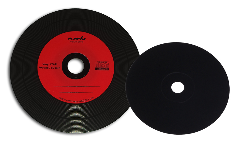 Vinyl CD-R Rotes Label
