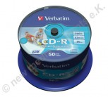 50 Verbatim CD-R AZO 700 MB Wide printable mit ID