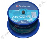 50 Verbatim CD-R AZO Crystal Surface 700 MB