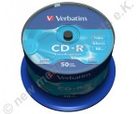 50 Verbatim CD-R Extra Protection 700 MB Cakebox