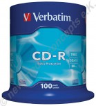 100 Verbatim CD-R Extra Protection 700 MB Cakebox