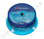 25 Verbatim CD-R Extra Protection 700 MB Cakebox