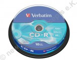 10 Verbatim CD-R Extra Protection 700 MB Cakebox