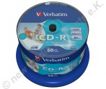 50 Verbatim CD-R AZO 700 MB Wide printable Non-ID