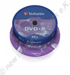 25 Verbatim DVD+R 16x Speed 4,7GB DVD-Rohlinge Matt Silver