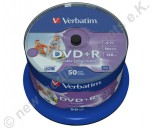 DVD+R Verbatim 16x Speed 4,7GB printable AZO No-ID 50 Stück