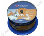 DVD-R Verbatim  16x Speed 4,7GB printable AZO No-ID 50 Stück