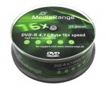 25 MediaRange DVD Rohlinge, DVD-R 4,7 GB 16x Cakebox