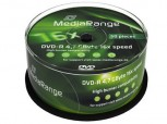 50 MediaRange DVD Rohlinge, DVD-R 4,7 GB 16x Cakebox