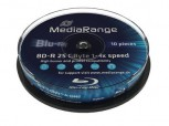 Blu-Ray 10 MR Rohlinge , Disc BD-R 25GB 4x (HTL) in Cakebox