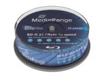 Blu-Ray 25 MR Rohlinge Disc, BD-R 25GB 4x (HTL) in Cakebox